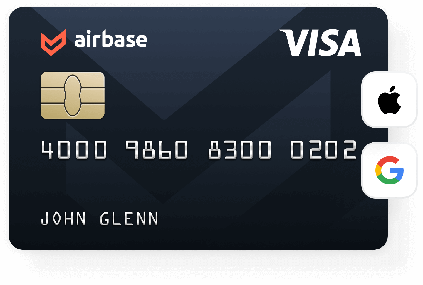 You can add your Airbase card to your digital wallet.