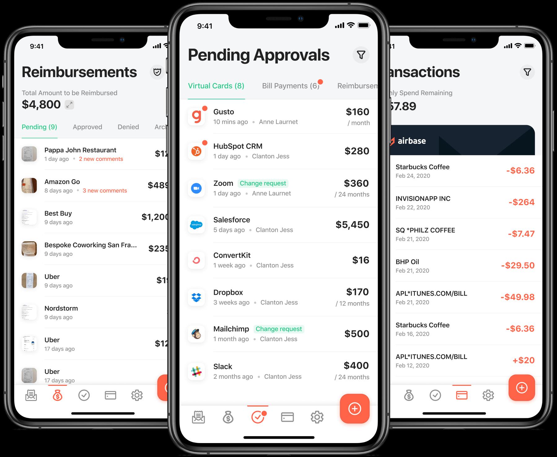 A modern spend management platform for those on the go.