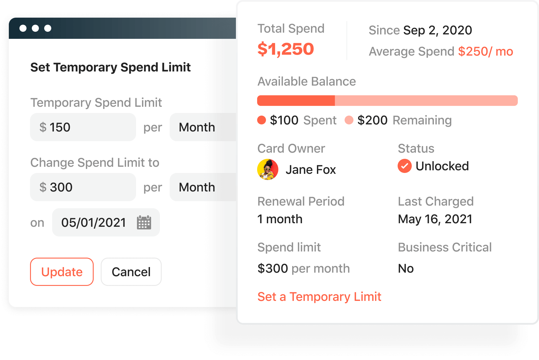 Airbase spend controls follow the same process to request spend for card and invoiced purchases.