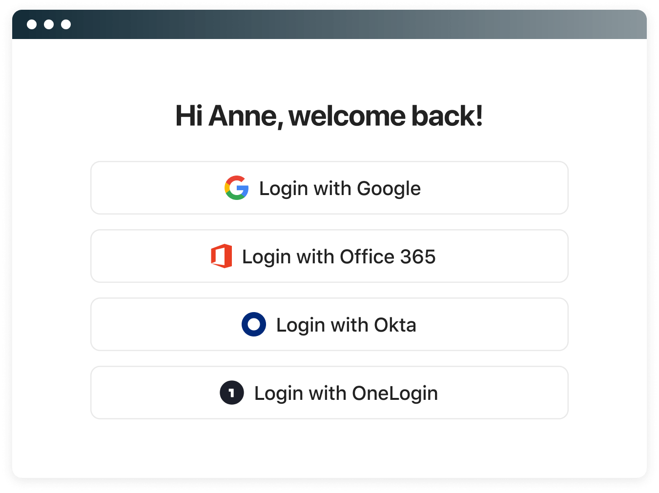 Make life easier for your employees to login.
