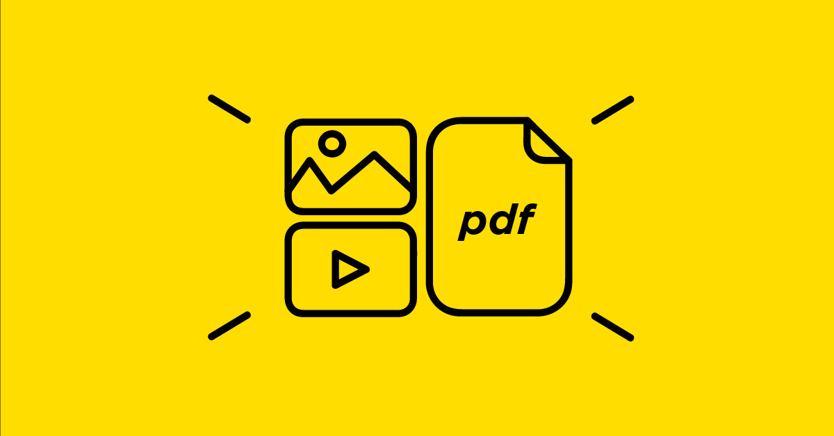 Optimised image, video and pdf file for a website