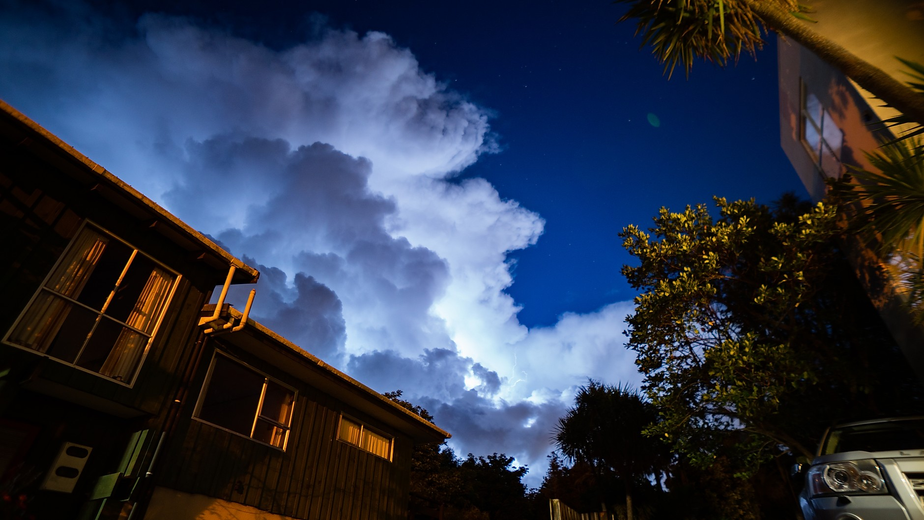 Electrical storm over Auckland, December 2018