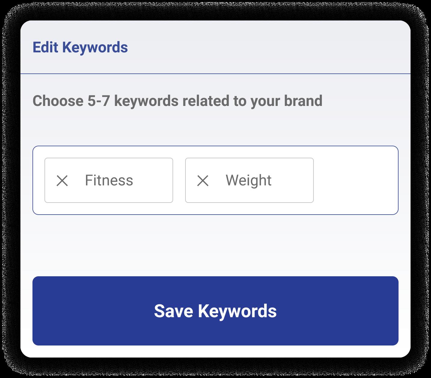 Stylized view of Magellan AI platform displaying keyword search