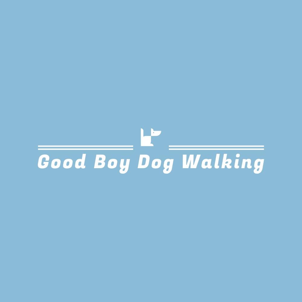 Good boy dog walking