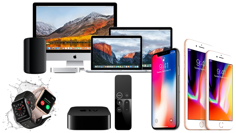 a collection of all Apple products
