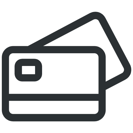 grey payment cards icon