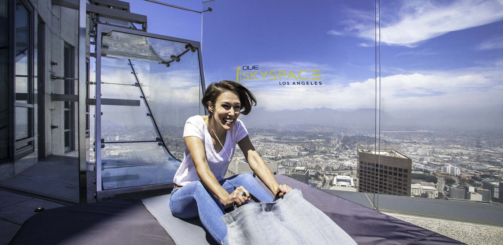 OUE Skyspace LA Sip and Slide experience