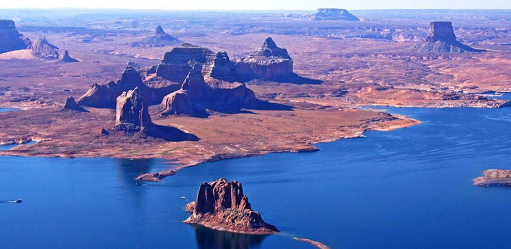 skyview horseshoe bend and lake powell air tour from page