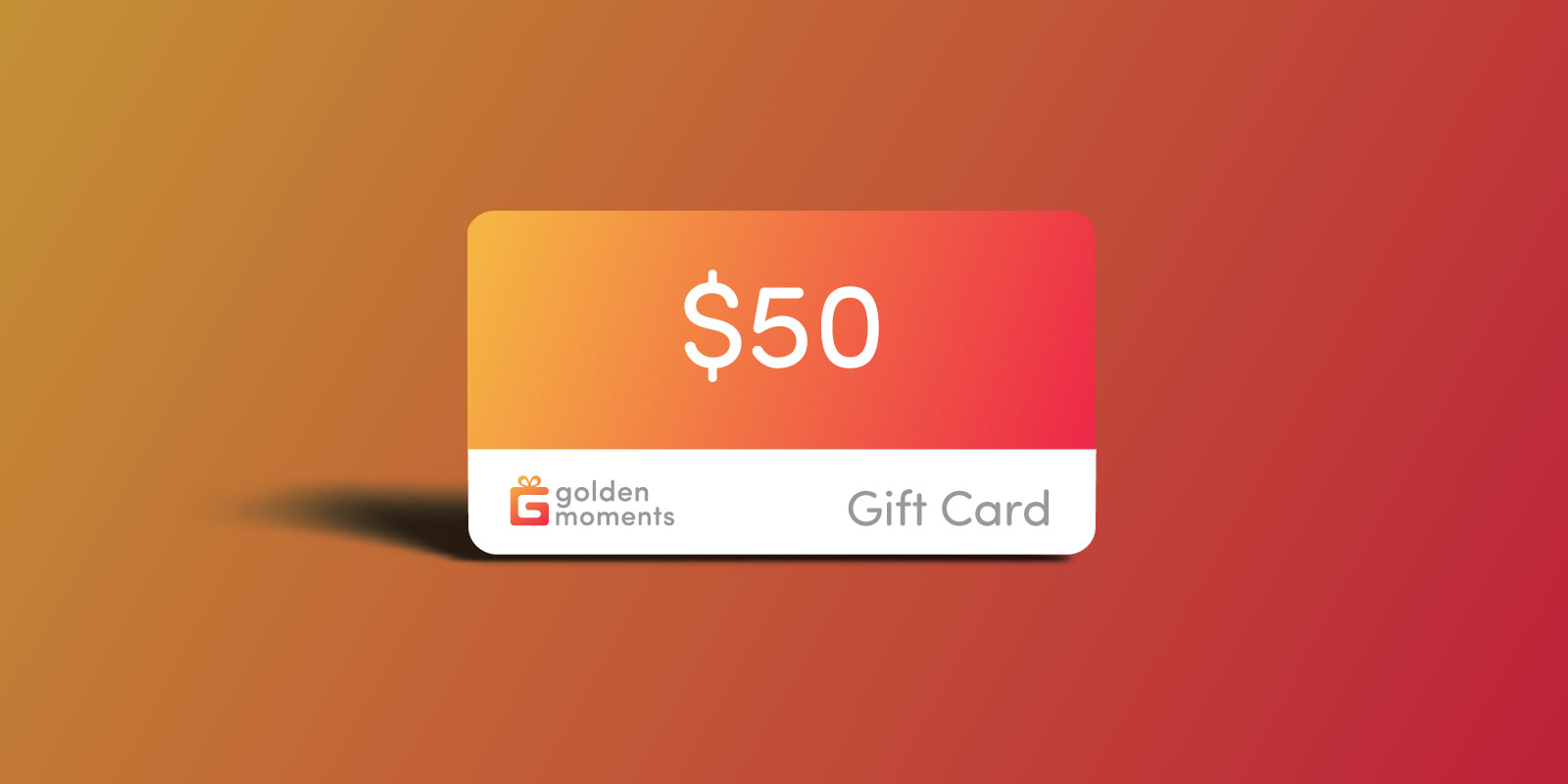 50 USD Golden Moments Gift Certificate
