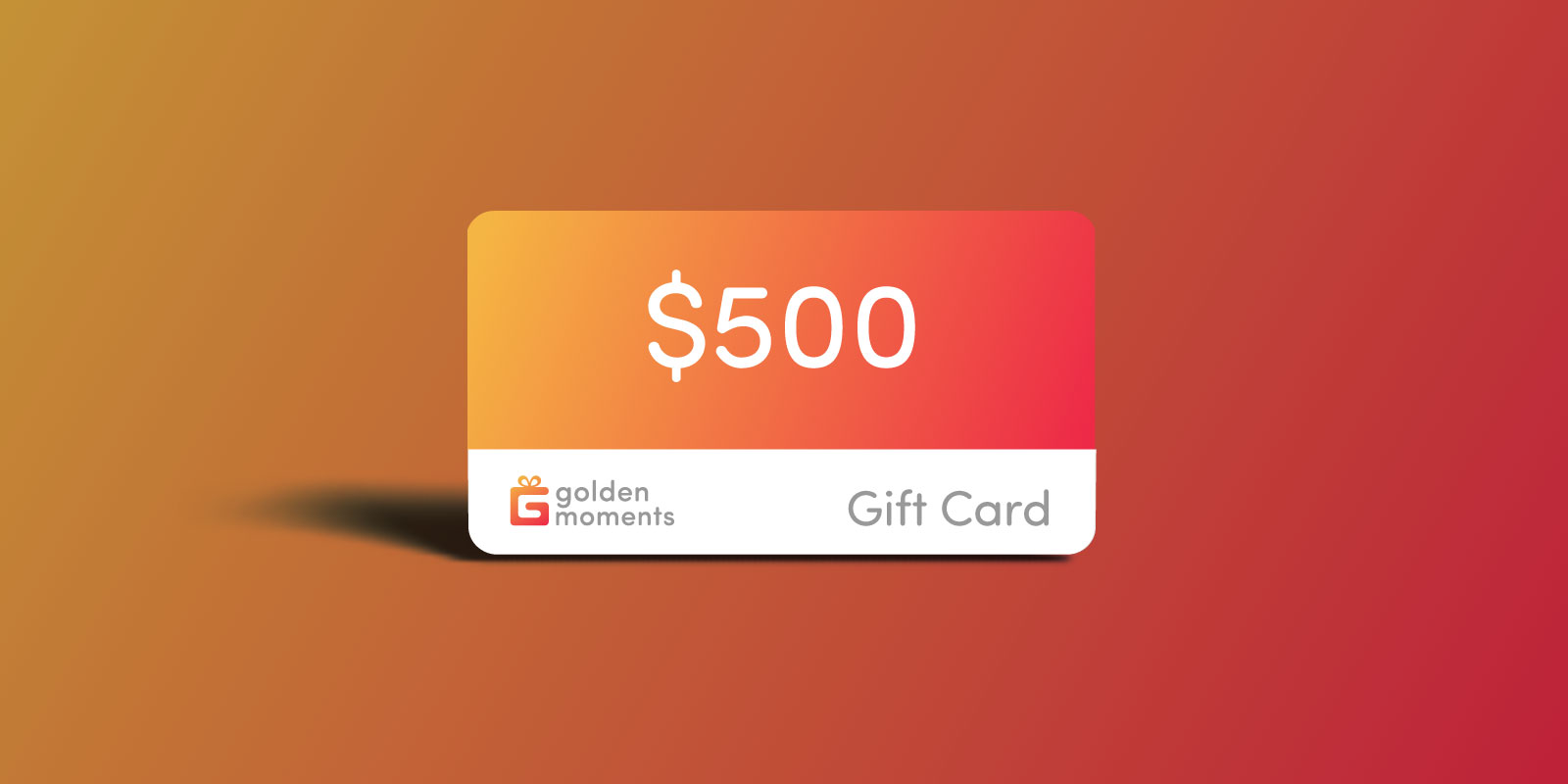 500 USD Golden Moments Gift Certificate