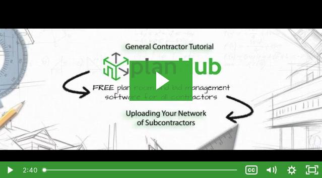 Uploading Your Network Of Subcontractors
