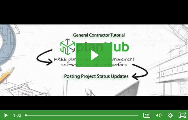 Posting Project Status Updates
