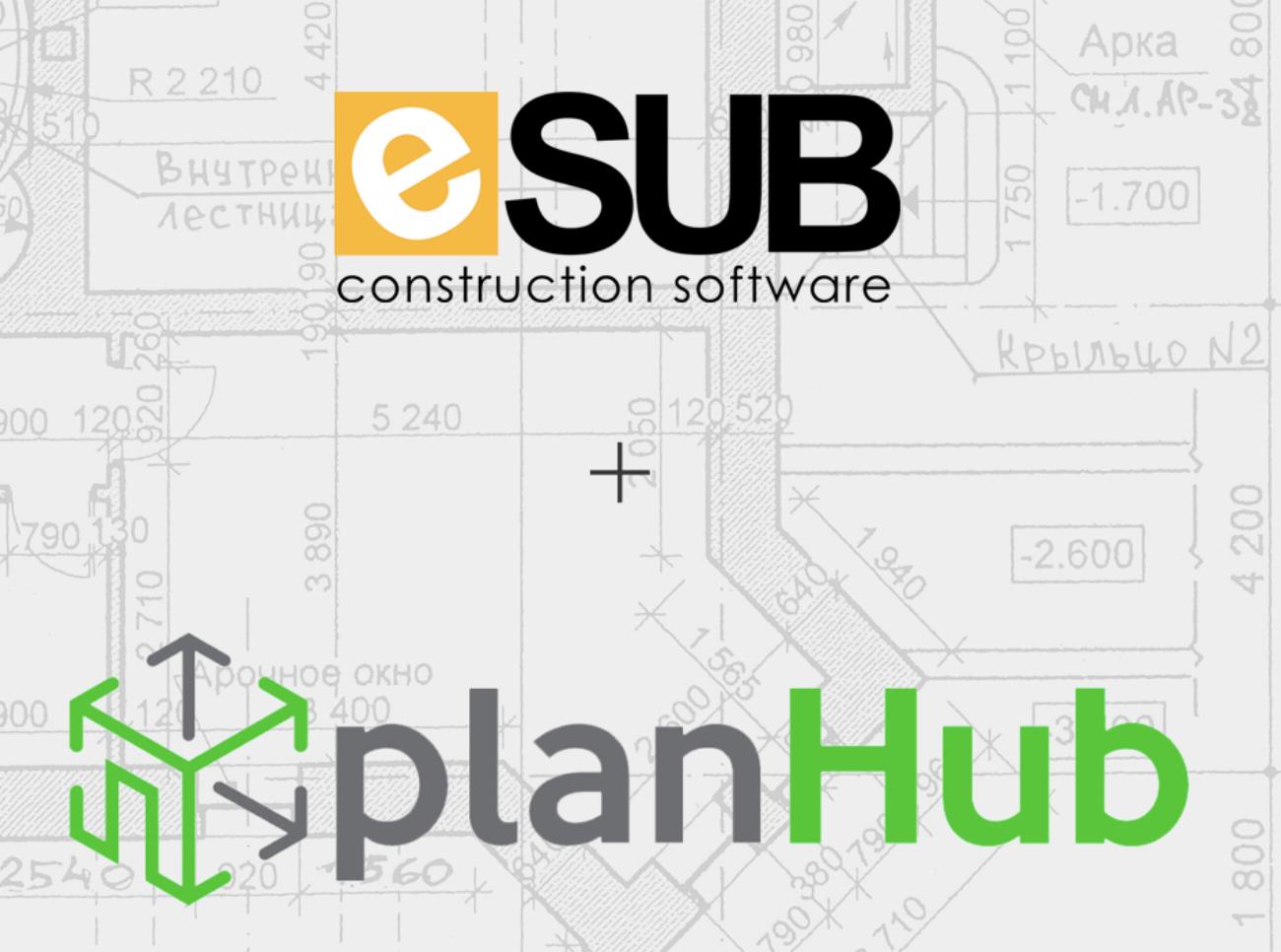 PlanHub and eSUB Construction Software Partnership Announcement