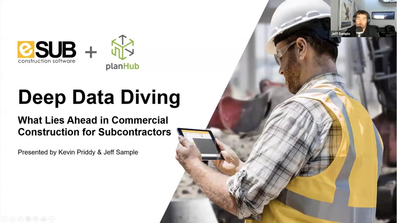 eSUB Construction Software and Planhub - Deep Data Diving