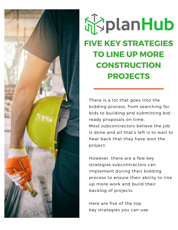 FIVE KEY STRATEGIES TO LINE UP MORE CONSTRUCTION PROJECTS