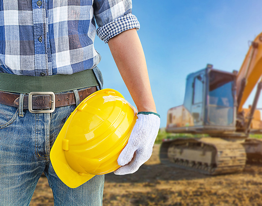 construction contractor onsite at project