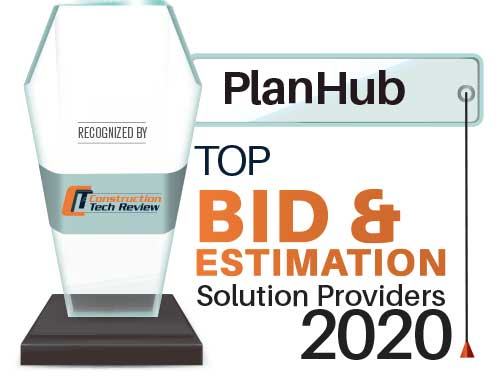 planhub top bid and estimation award 2020