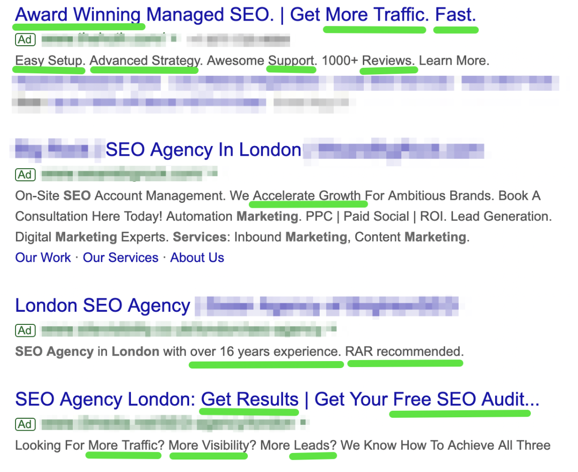 serp results value proposition