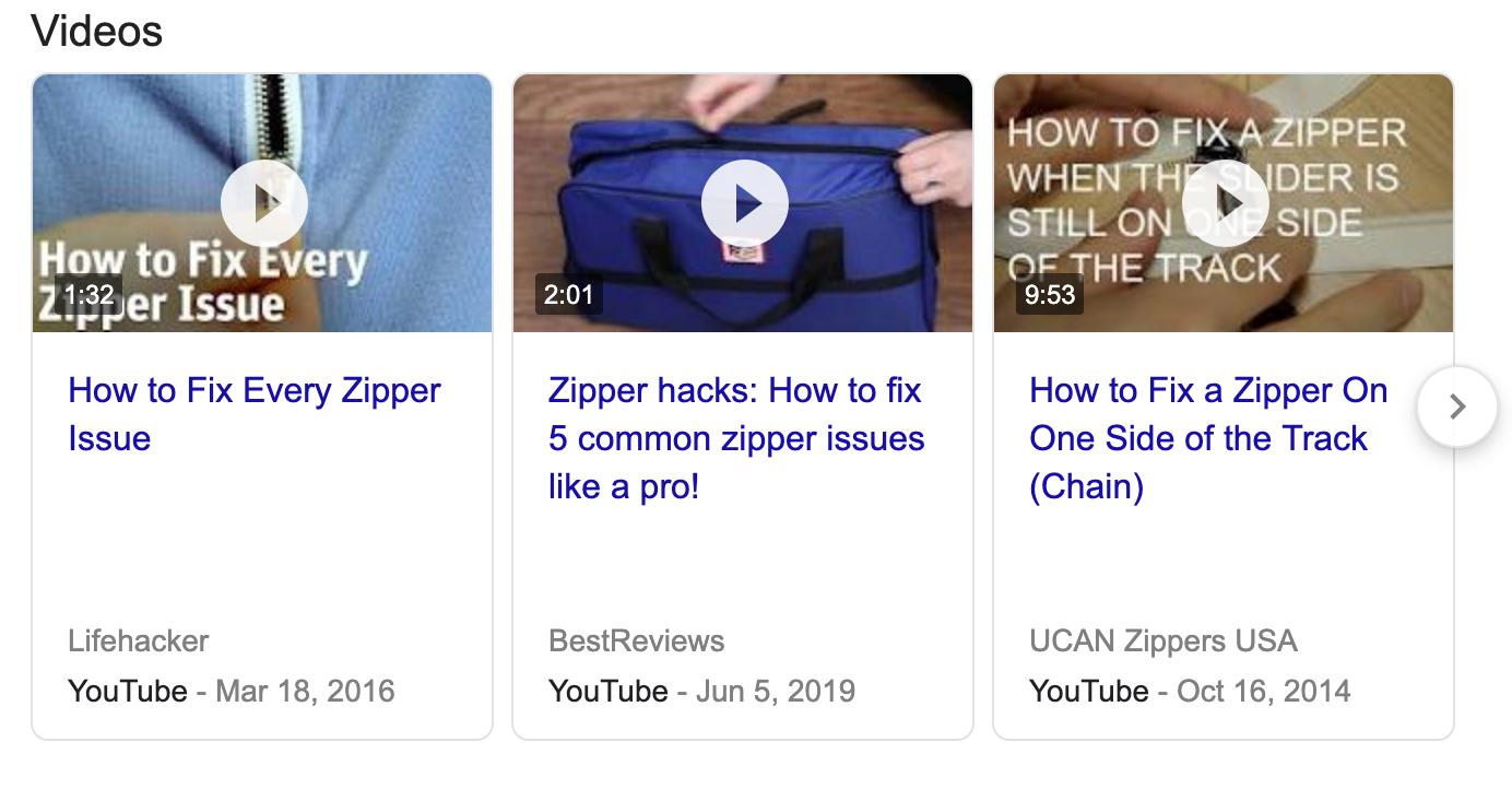 how to fix a zipper video in google search 2