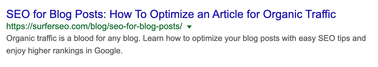 """meta title and meta descriptions for """"SEO for blogs"""" article"""