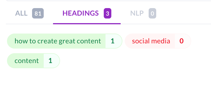 Headings in guidelines in Content Editor 2.0