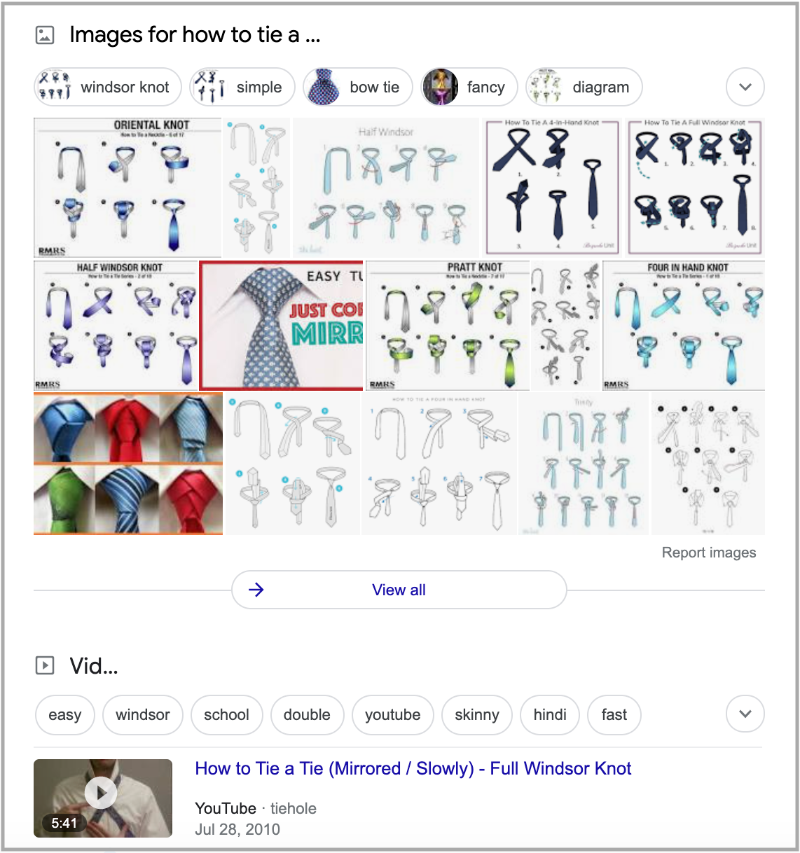 search results for how to tie a tie query 3
