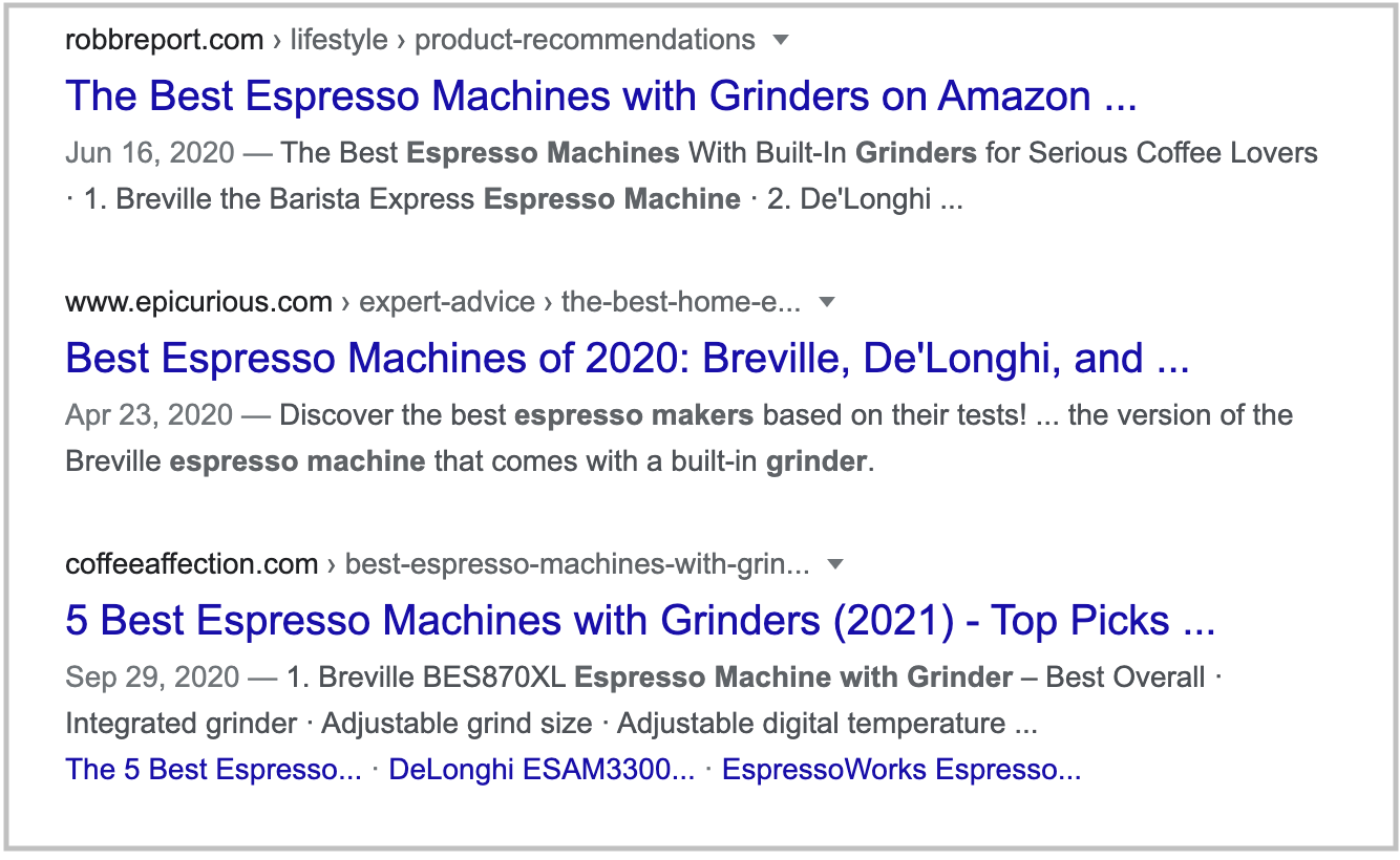 search results for espresso machine with grinder query 2