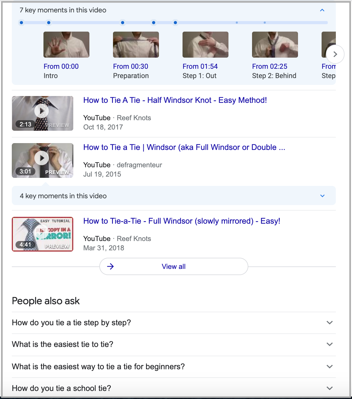 search results for how to tie a tie query 2