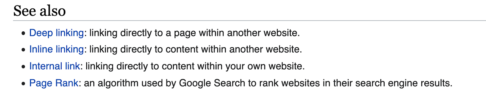 see also section for link building on wikipedia