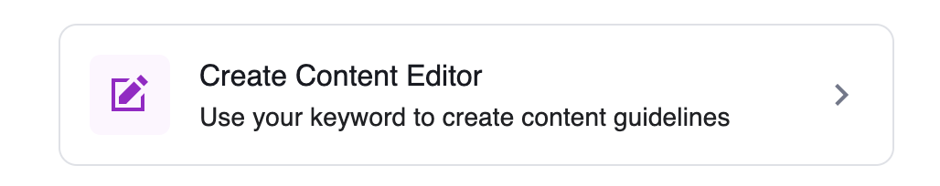 create content editor in keyword surfer