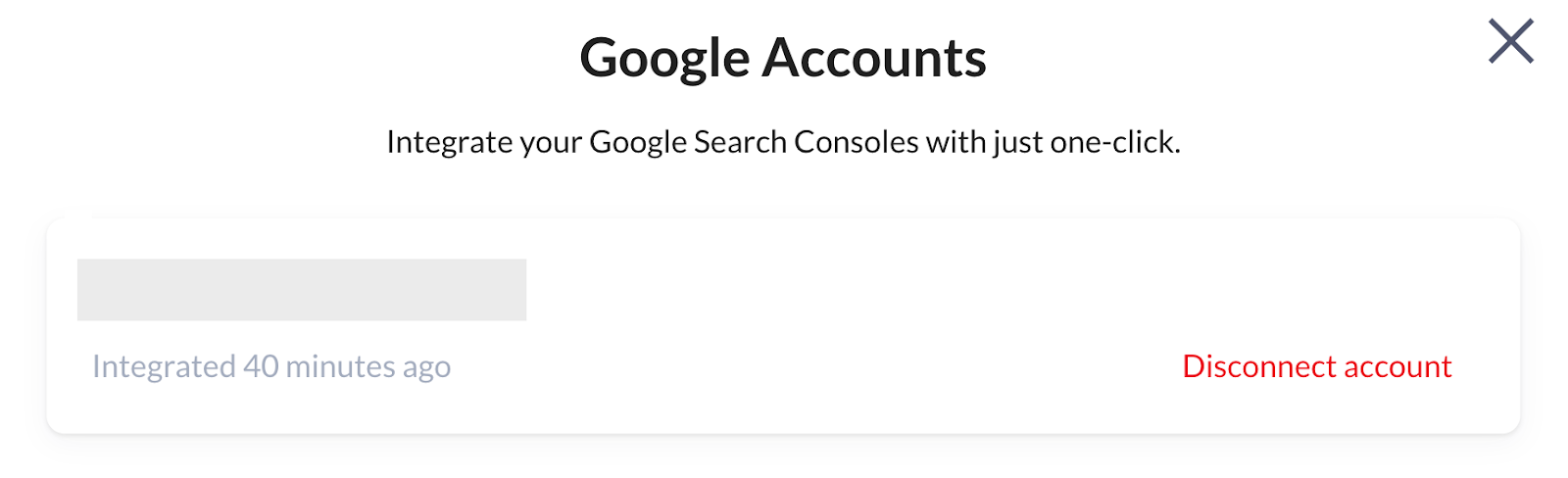Surfer Content Planner for the Domain disconnecting Google Search Console