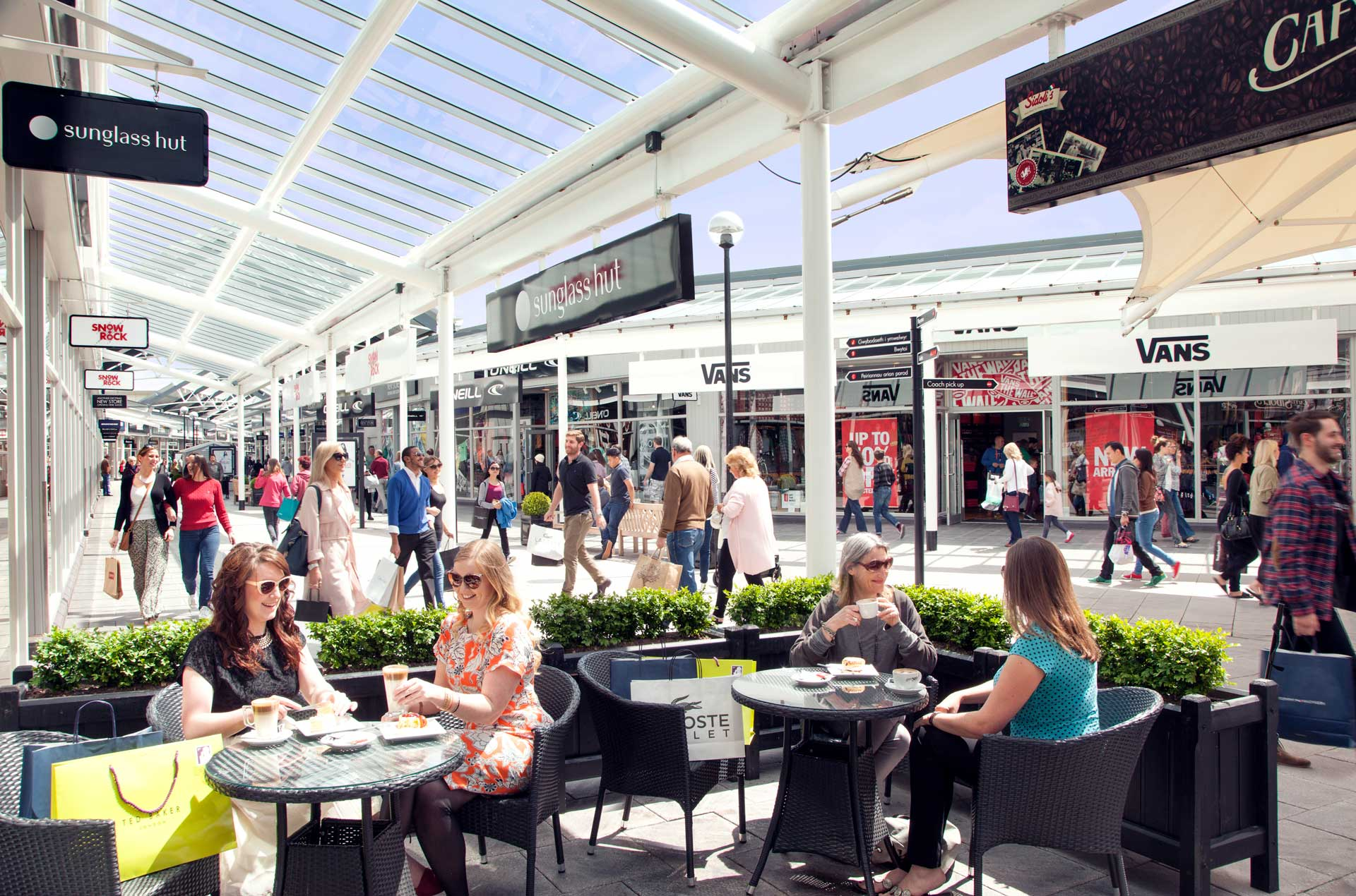 A busy day at Bridgend Designer Outlet