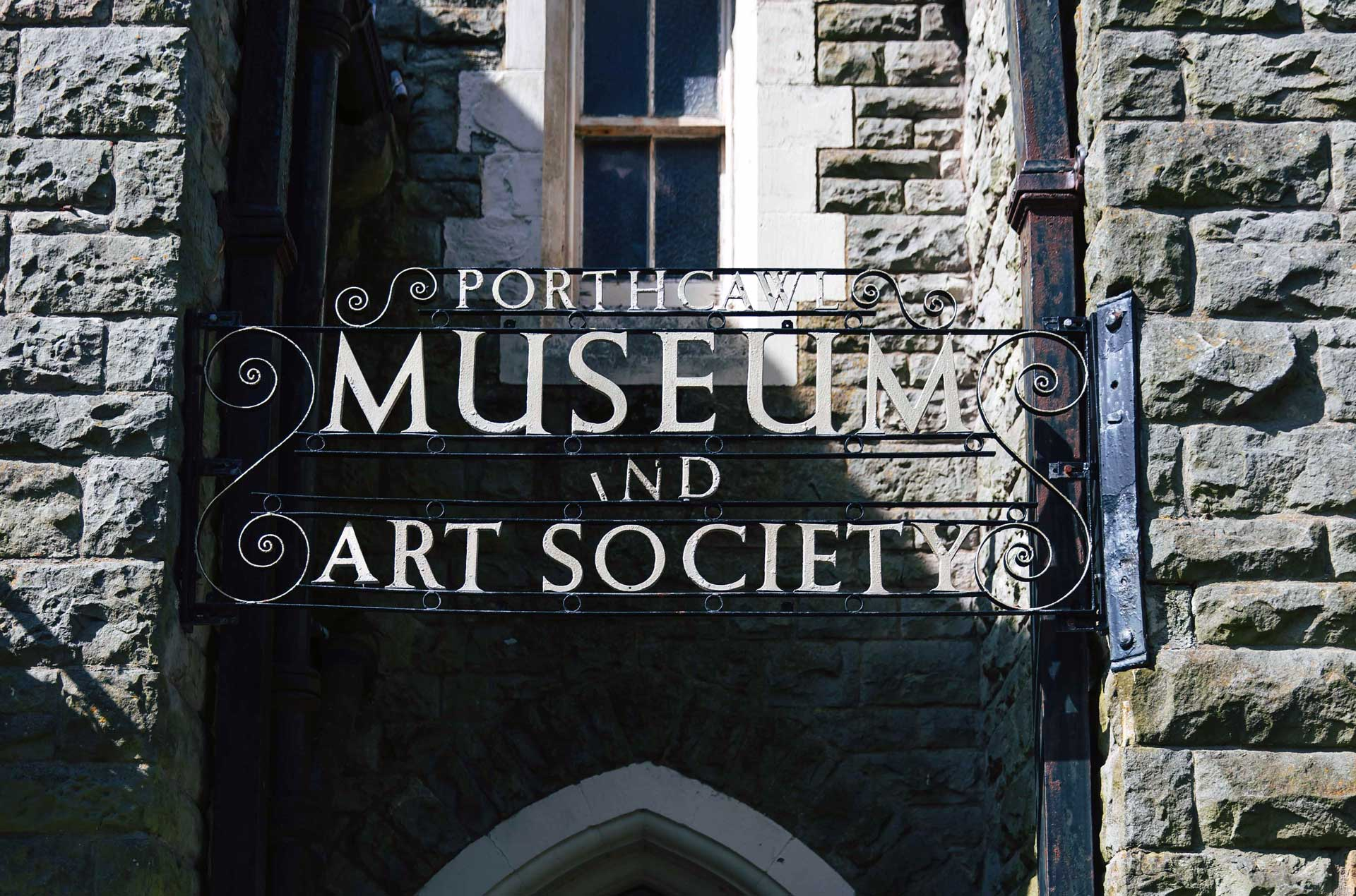 The entrance sign at Porthcawl Museum