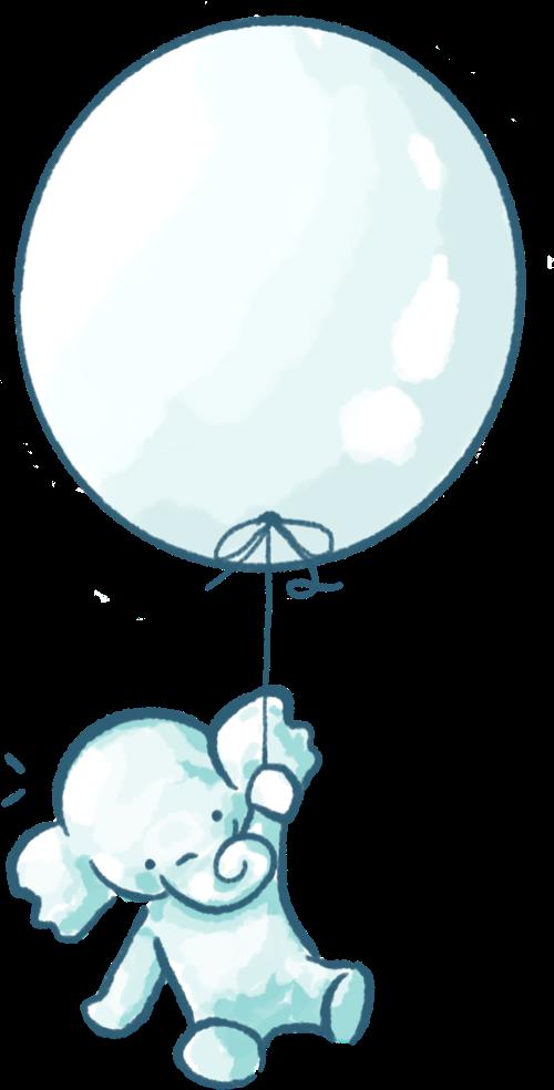 Trustle Elephant with Balloon