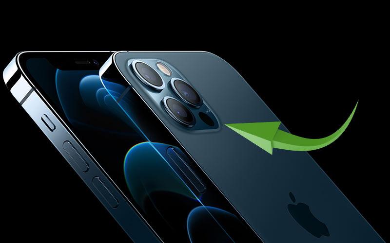 Lidar-sensori iPhone 12 -puhelimessa