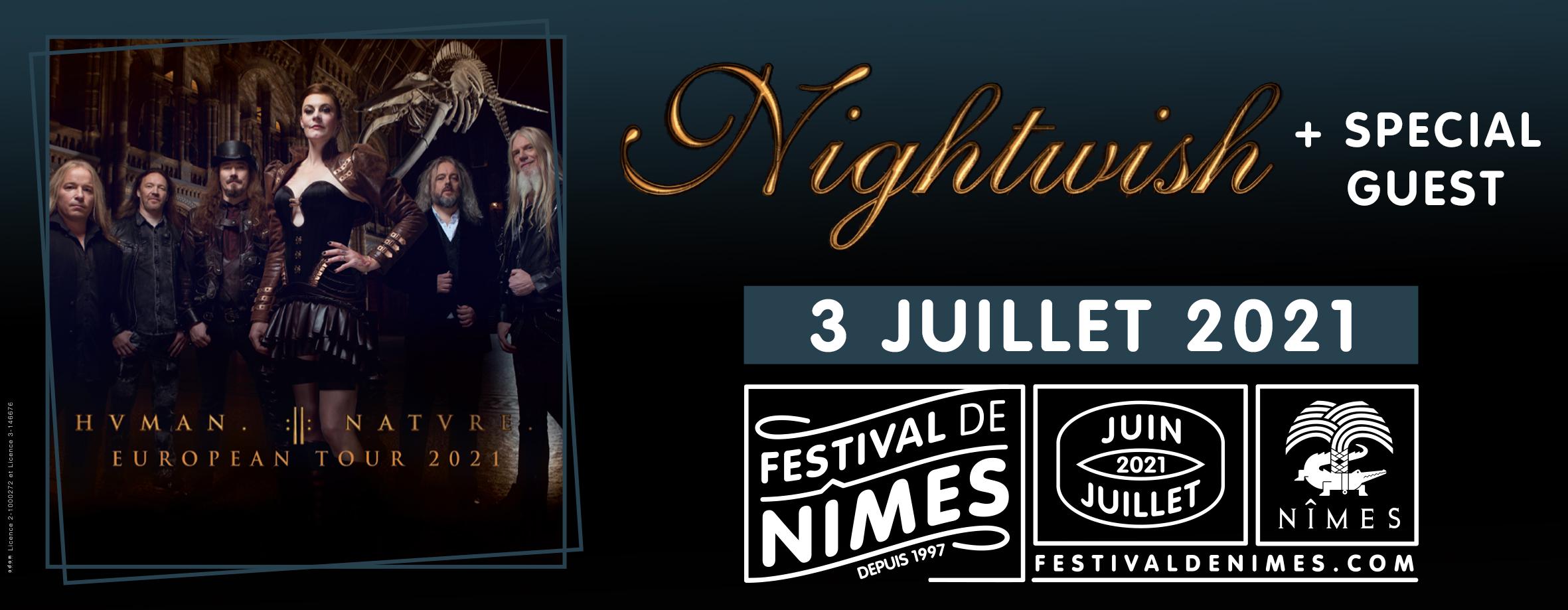 Nightwish to play Festival de Nîmes 2021!