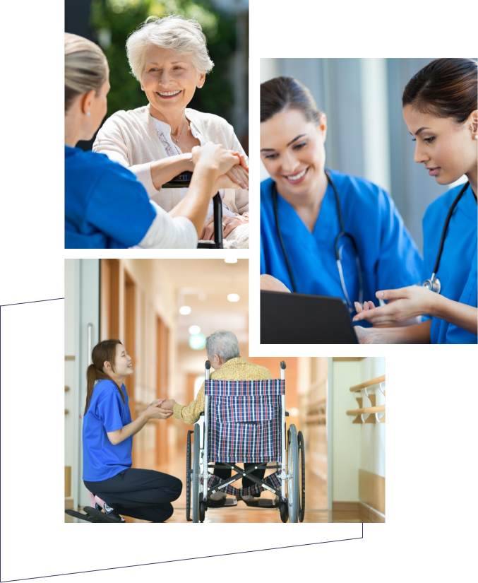 Collage of aged care workers
