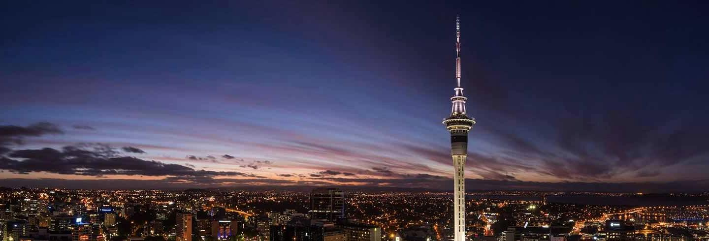 Auckland cityscape with the Sky Tower in view