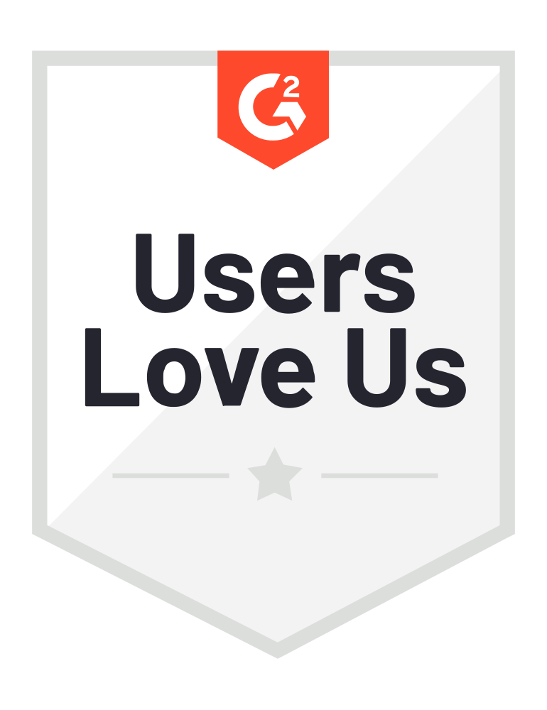 Users love us G2 badge icon