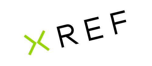 Xref logo on angle with transparent background
