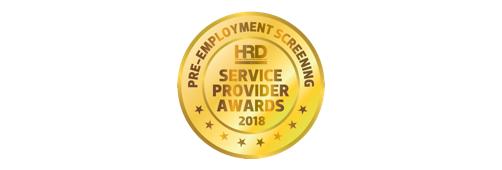 HRD service provider awards 2018 logo, gold circle award