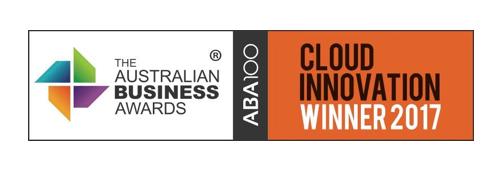 Australian business awards, cloud innovation winner 2017 logo