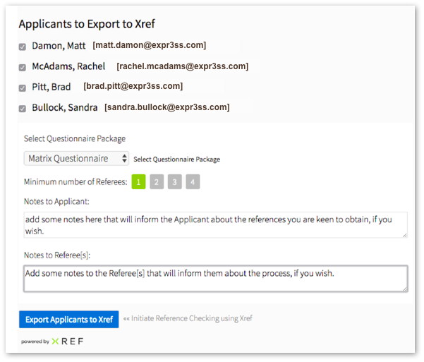 Send Xref request in Expr3ss integration