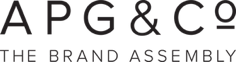 APG and Co logo, the brand assembly, grey
