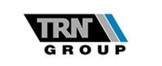 TRN Group logo, black, grey, blue