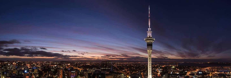 Sky city header image, landscape image of of Auckland
