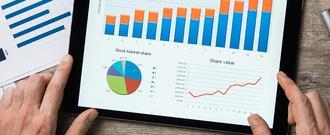 Graphs on smart tablet