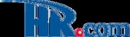 HR com logo, blue text on white