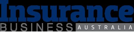 Insurance Business Australia logo, navy and grey on white