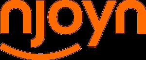 Njoyn logo, orange text on white